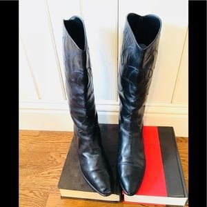 Maud Frizon Paris Leather Vintage Boots